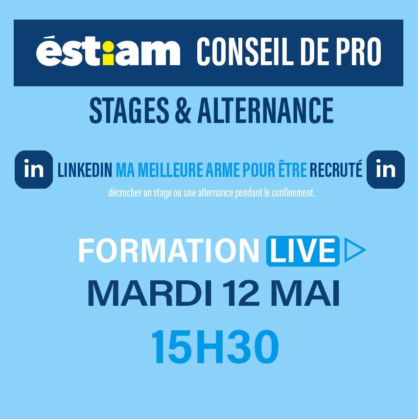 Conseil de Pro – formation live : stage et alternance