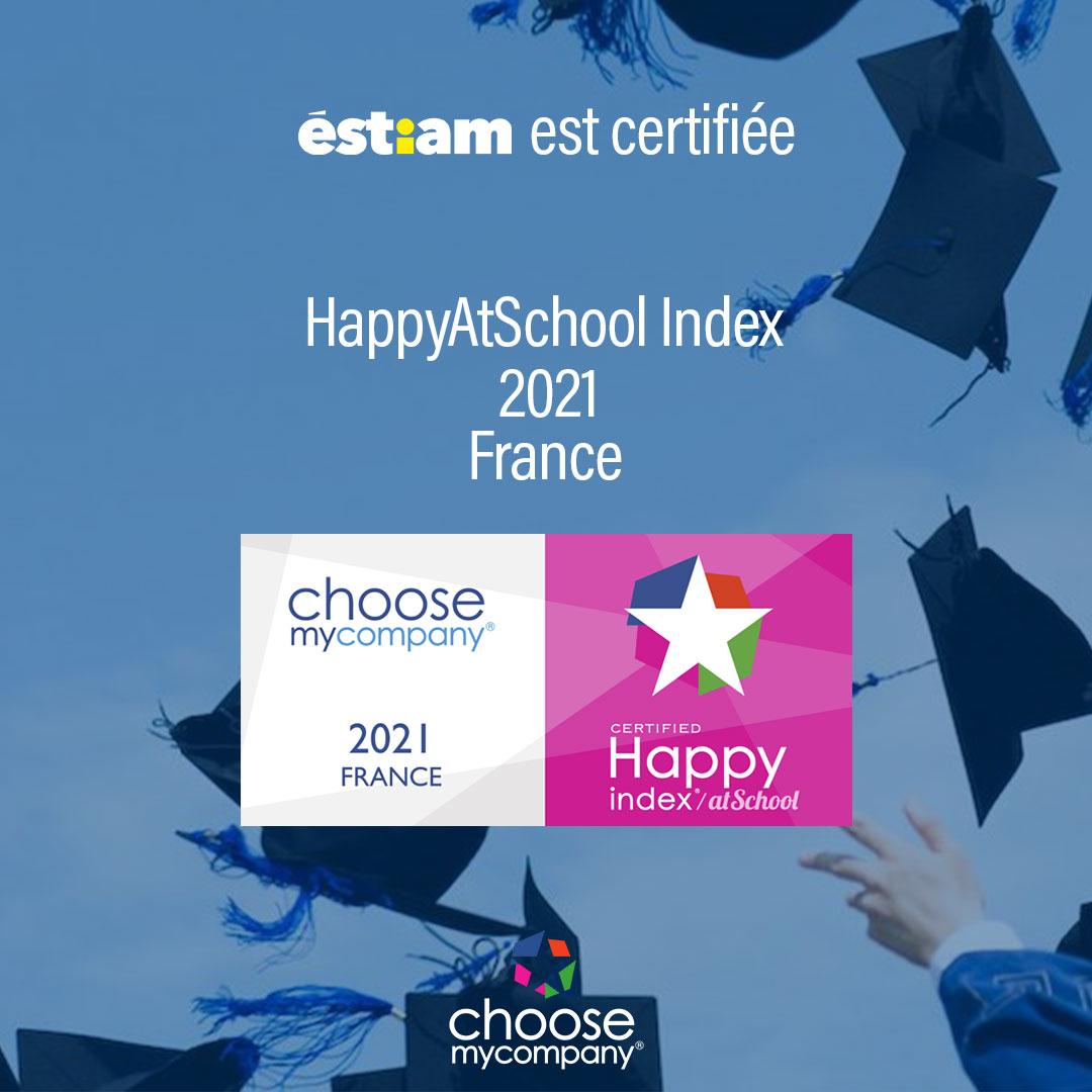 L'Éstiam décroche le label HappyAtSchool® 2021